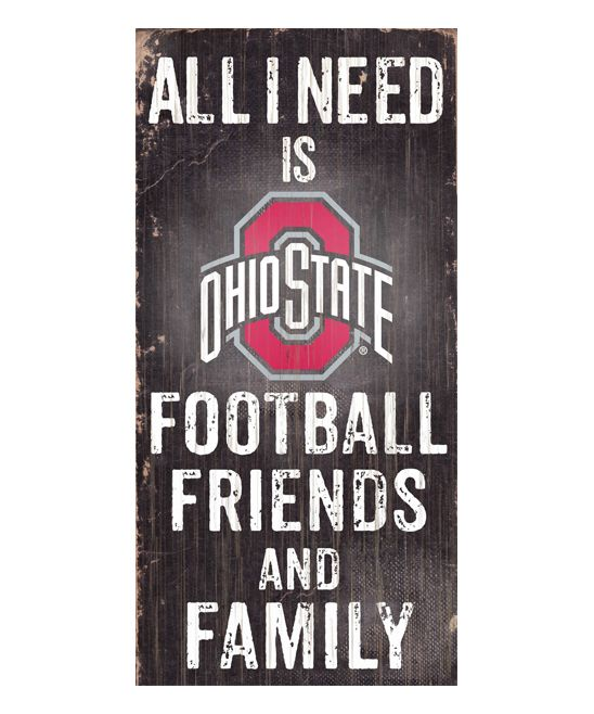 Ohio State Buckeyes 'Football Friends and Family' Wall Sign