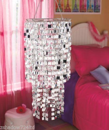 Chic Silver Icicles Chandelier Bedroom Dorm Teen Girl Room Decor New | eBay $27.99