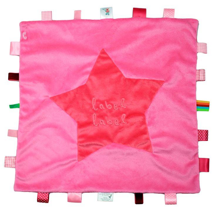 Label-Label Stars knuffeldoekje XL roze-fuchsia http://www.tuttelwinkel.nl/Knuffeldoekjes/label-label-stars-knuffeldoekje-xl-roze-fuchsia.html