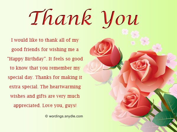 The 25 Best Thanks For Birthday Wishes Ideas On Pinterest Thank Thanking Happy Birthday Wishes