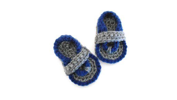 Crochet Baby Flip Flops  Crochet Baby by stickshooksandyarn