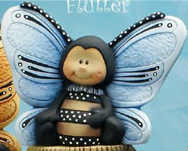 Ceramic bisque 'flutter' the butterfly~u paint