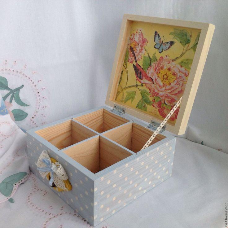 """Купить """"В райском саду""""-2 Шкатулка для чайных пакетиков - подарок, подарок на день рождения"""