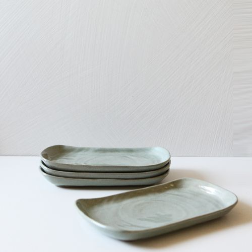 Casual line wormwood Rectanguler Plate 26, set of 4 / $74.00