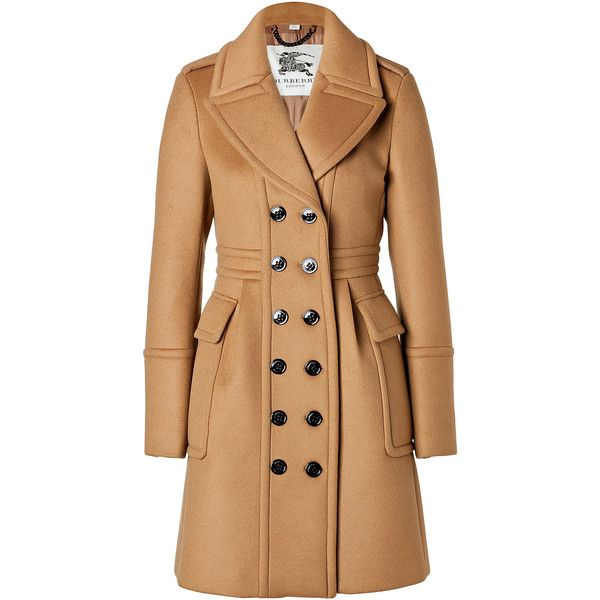 BURBERRY LONDON Cashmere-Wool Winstan Coat in Ochre Brown found on Polyvore