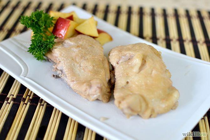 Diferentes maneras para hervir pollo.