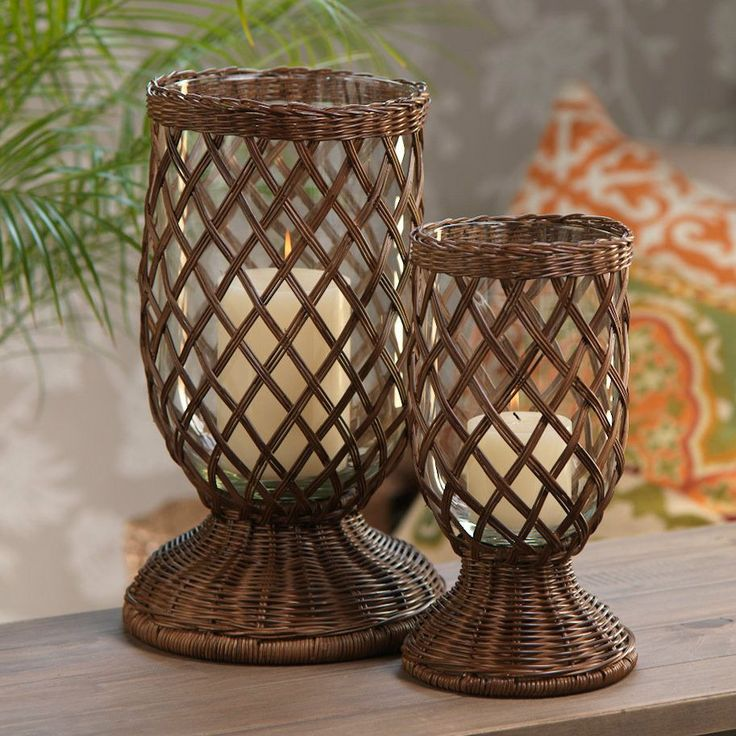 Diamond Weave Urn / Hurricane / Vase