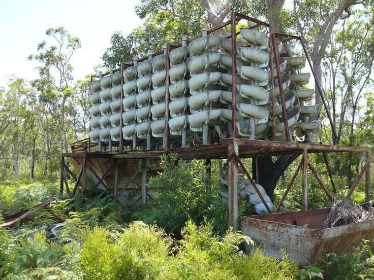Abandoned Mineral Sand Extraction Plant on Bribie Island, north of Brisbane, Australia
