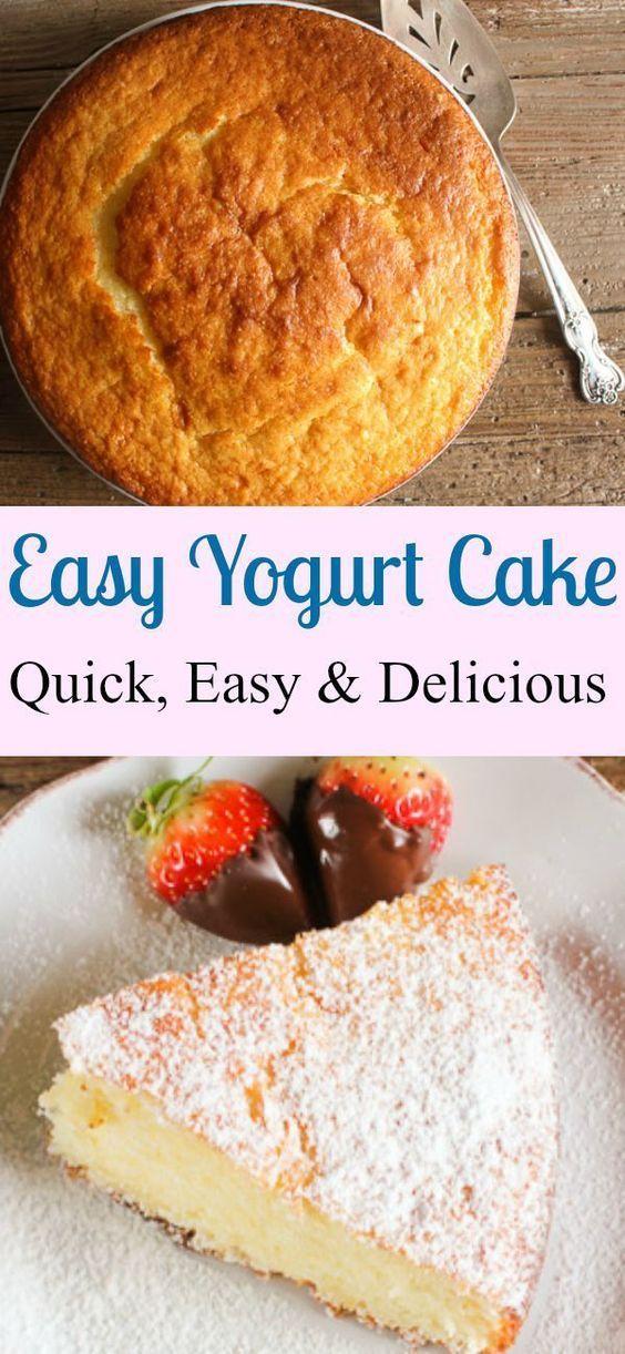 A super easy healthy Greek yogurt cake recipe delicious and moist strawberry blueberry you decide Greek yogurt or regular yogurt! The perfect summertime or anytime dessert.