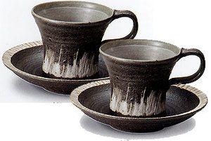 【コーヒーがおいしくなる♪】信楽焼コーヒーカップ樹氷コーヒー碗皿ペアセット出産祝い誕生日引き出物結婚祝い記念品開店祝い開業祝い新築祝い内祝い父の日敬老の日プレゼントギフト贈り物に最適!業務用にも!