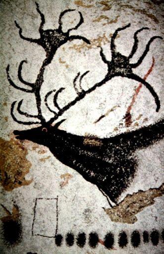malowidło z jaskini w Lascaux, Francja (paleolit)