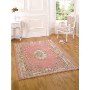 Pink French style rug. 100% full cut and hand tufted wool rug. The Imperial range will give a unique and warm feeling to your room. http://www.therughouse.co.uk/traditional-rugs/stunning-pink-shabby-chic-100-wool-traditional-rug-imperial.html