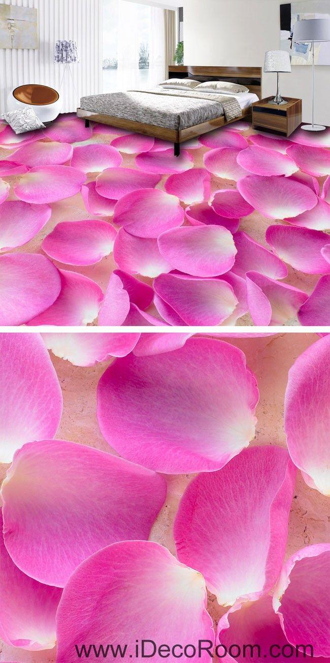 11 best 3d illusion wall mural images on pinterest customer baby pink flower petals full 00051 floor decals 3d wallpaper wall mural stickers print art bathroom