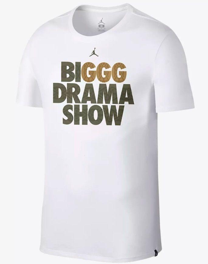 56a9d6eb Nike Jordan Sportswear GGG BIGGG Drama Show T-Shirt White Canelo Men's  Small S #Nike #ShirtsTops