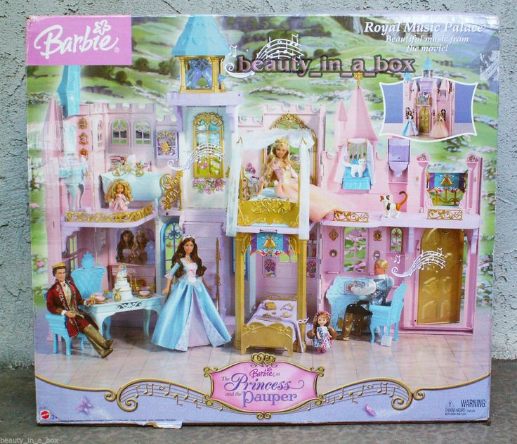 Barbie in The Princess and the Pauper Royal Music Palace by Mattel