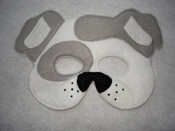 Hey, I found this really awesome Etsy listing at https://www.etsy.com/listing/184977904/childrens-white-dog-animal-felt-mask