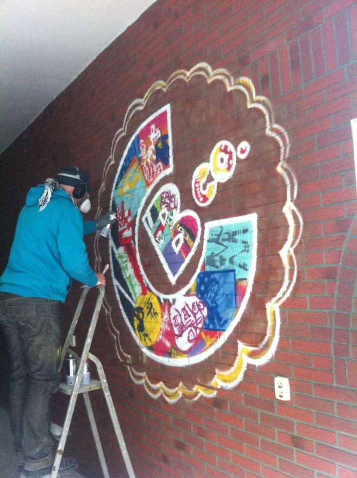 Cali Burrito Amsterdam - opening soon! Graff in progress