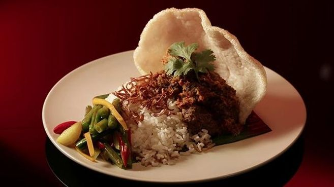 Beef Rendang with Coconut Rice and Turmeric Pickle - MKR finals - Tasia and…