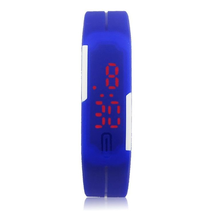 7 Colors Men's Watch Ultra Thin Men Girl Sports Silicone Digital LED S – My Your Electronic