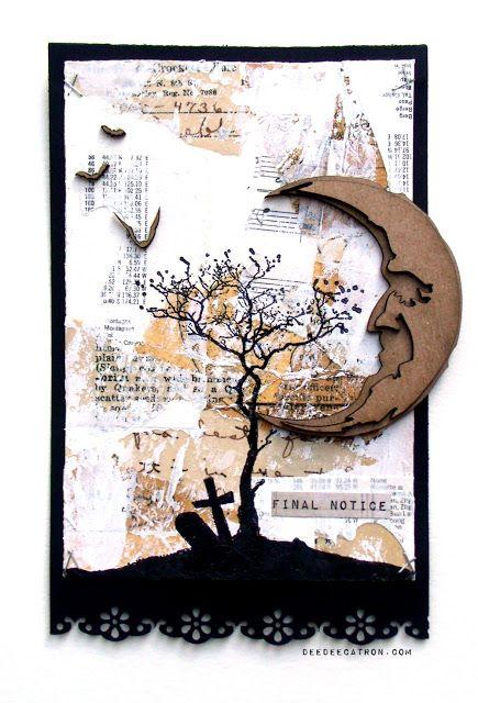 by DeeDee Catron: Final Notice - Altered Postcard using Viva Las VegaStamps!, UmWowStudio, Tim Holtz, Ranger Ink, 7 Dots Studio