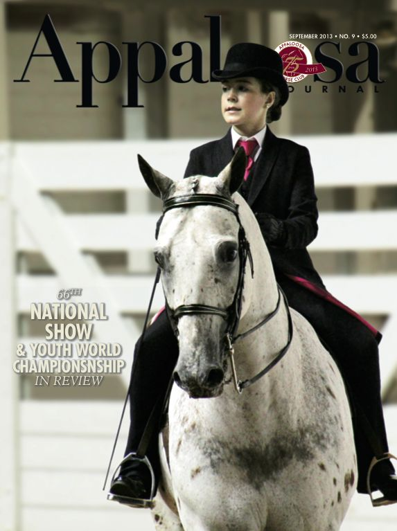 September 2013 features coverage of the National Show and Youth World Championship, as well as an article on Destiny Zeiders, whose 6-year-old mare Zippo Psychic Vision was the youngest to win Non-Pro Supreme Champion Horse.: Features Coverage, Champion Horse, Destiny Zeiders, Mare Zippo, Appaloosa Journal, 2013 Features, 6 Year Old Mare, Non Pro Supreme