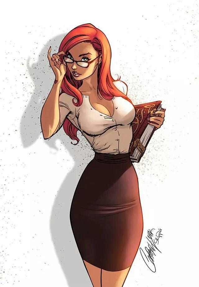 Redhead librarian sexy