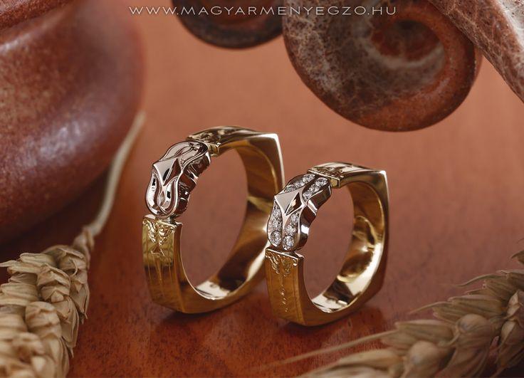 Kistulipán No.2 - karikagyűrű - wedding ring - www.magyarmenyegzo.hu