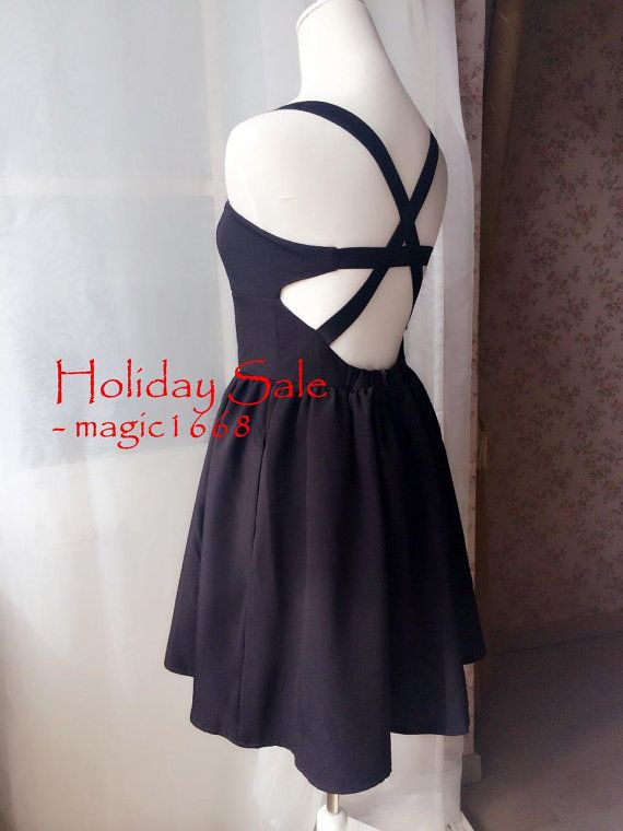 Black White Short Sexy Dress Backless Fashion Chic Summer Prom Dresses Evening Dress Bridesmaid Dresses Formal Dress - magic1668 design