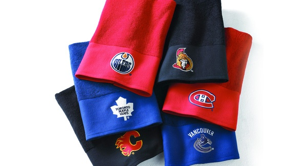 Show support AND earn reward miles with these these cotton terry towels in vivid team colours from #Sears. Perfect for staying cool when the game heats up! #airmiles #playoffs