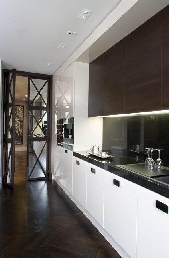 Salon płynnie przechodzący w kuchnię i jadalnię - Architektura, wnętrza, technologia, design - HomeSquare