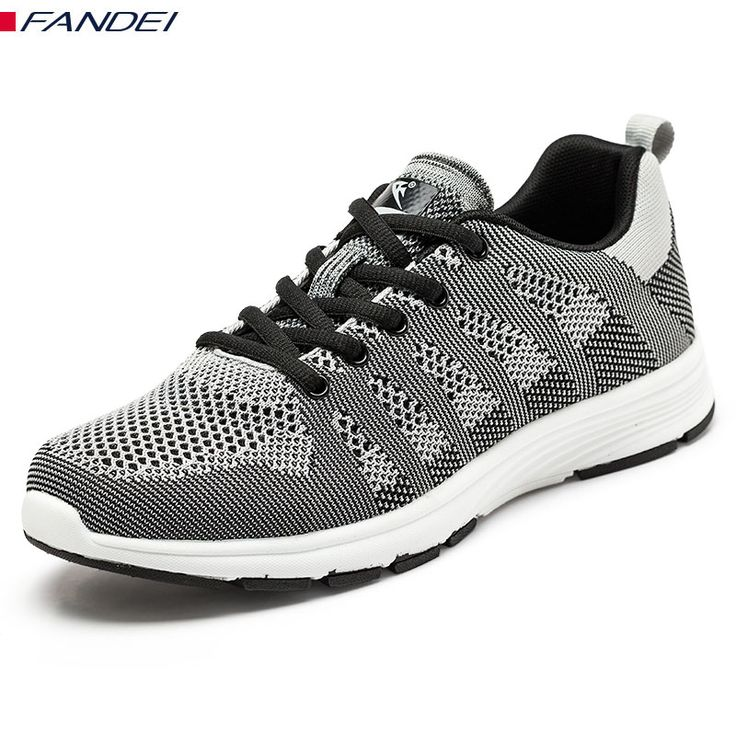 FANDEI MEN'S FLYWIRE RUNNING SHOES LIGHT BREATHABLE men's sport lace up running shoes zapatillas running hombre 2017 size 39-44