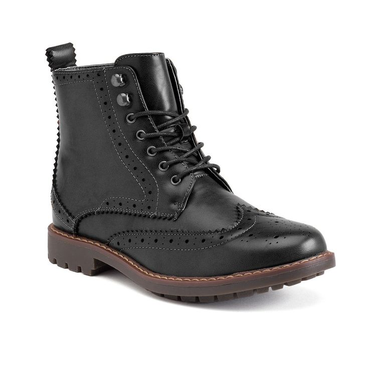 XRay Grand Men's Wingtip Ankle Boots, Size: 8, Black