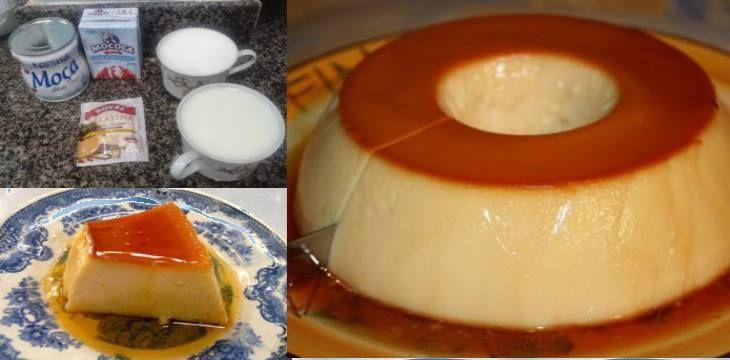 Receita deliciosa de pudim de leite sem ovo e que não precisa ir ao forno »