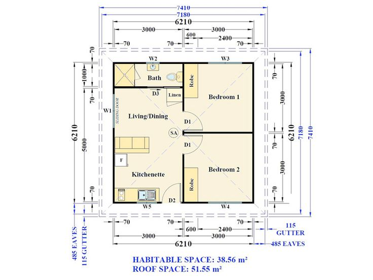 the-julianna 38sqm two bedroom granny flat