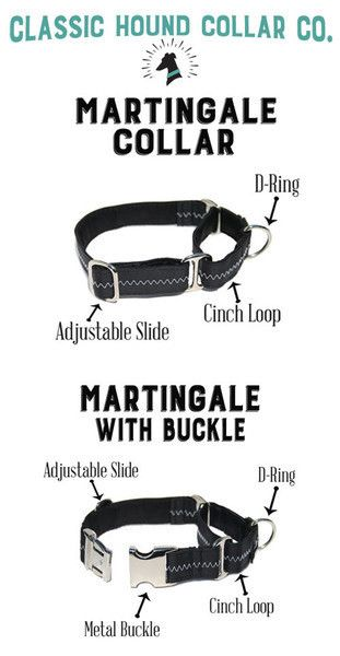 Classic Hound Collar Co. | Anatomy of Martingale Dog Collars