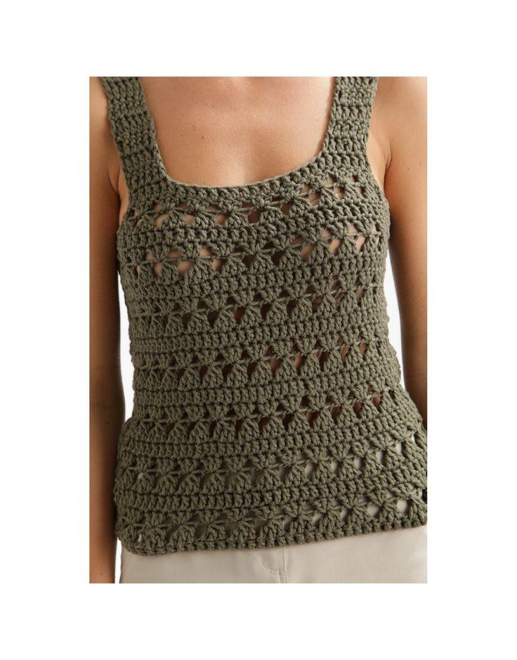 34 best Crochet Tops Patterns Free images on Pinterest | Tops de ...