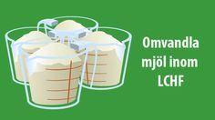 Vad kan jag byta ut mandelmjölet, pofibern eller kokosmjölet mot? Här hittar du en enkel omvandlingstabell för mjölsorter som används ofta inom LCHF.