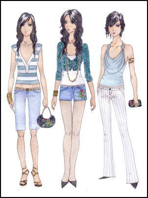 fashion drawings | Fashion-era fashion design pages.Fashion Drawings by Anne Westphal ...