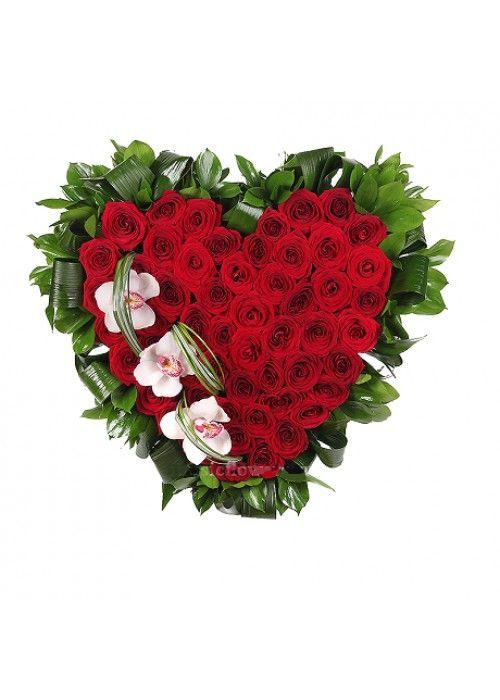 Букет цветов цветов в виде сердца мастер класс, композиции фоамирана