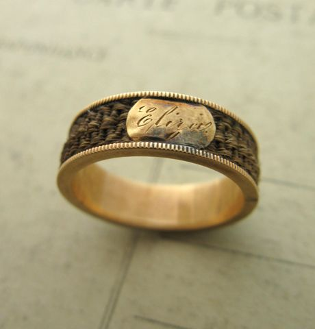 47 Best Human Hair Mourning Rings Images On Pinterest