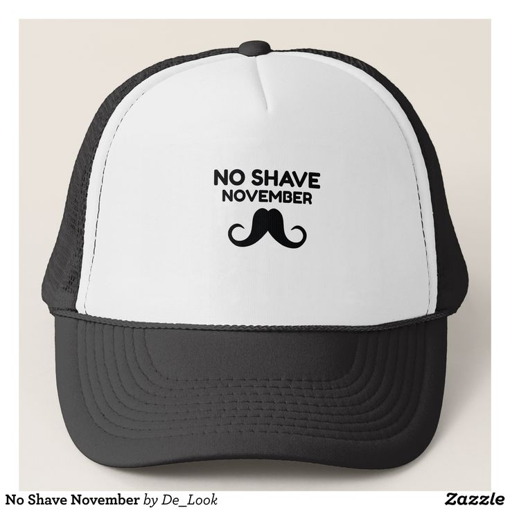 No Shave November Trucker Hat - Fashionable Urban And Outdoor Hunter Farmer Trucker Hats By Creative Talented Graphic Designers - #hats #truckerhats #fashion #design #designer #fashiondesigner #style #trends #bargain #sale #shopping - Trucker Hats are a great way to cheer your team or promote your brand or make a unique fashion statement or simply keep the sun out of your eyes - Customizable trucker hats are the perfect way to look cool and memorable - Trucker Hats can be customized with…