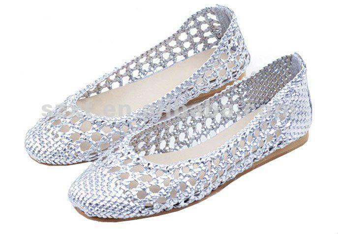 Dama de la moda 2012 cinturones tejidos pisos playa zapatos ...