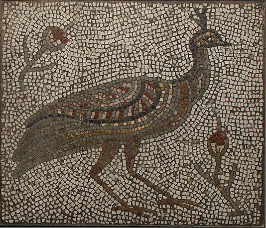 Mosaic with a Peacock and Flowers | 3rd–4th century | Roman or Byzantine