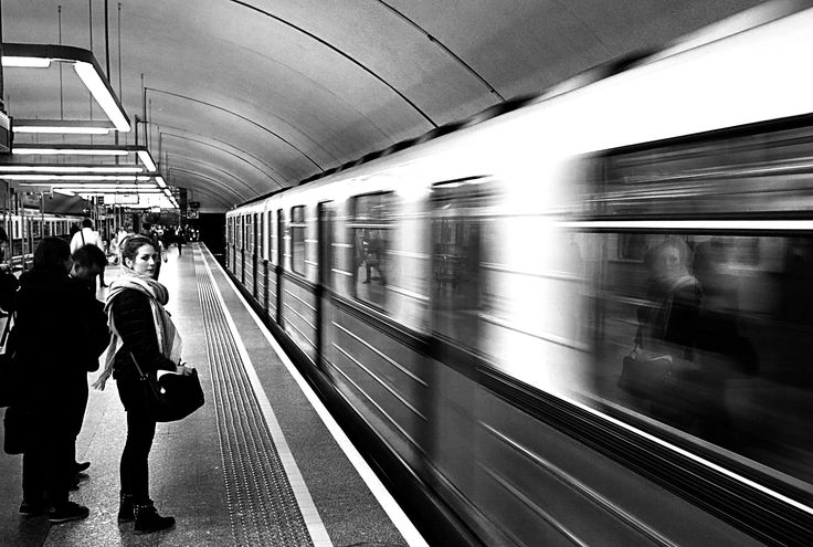 Dynamic reflection - Taken at the subway station. The train has just arrived and I took totally non-prepared capture. Nevertheless I like the result.