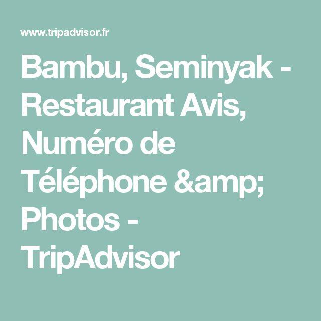 Bambu, Seminyak - Restaurant Avis, Numéro de Téléphone & Photos - TripAdvisor
