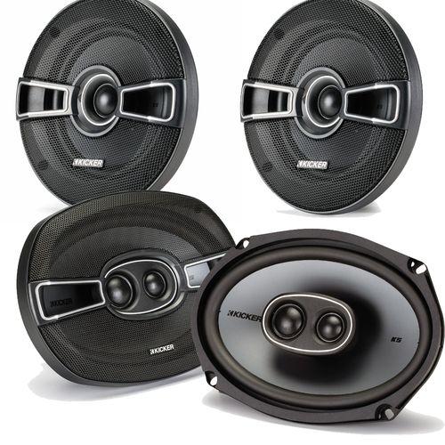 "Kicker for Dodge Ram Truck 1994-2011 speaker bundle - KS 6x9"""" coaxial speakers, and KS 5.25"""" coaxial speakers."