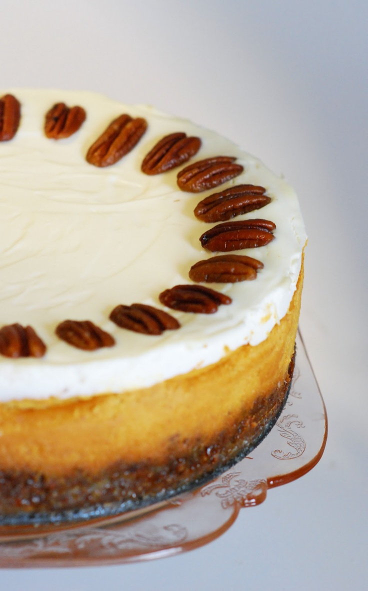 Bourbon Pumpkin Cheesecake from The Sweet Swiper