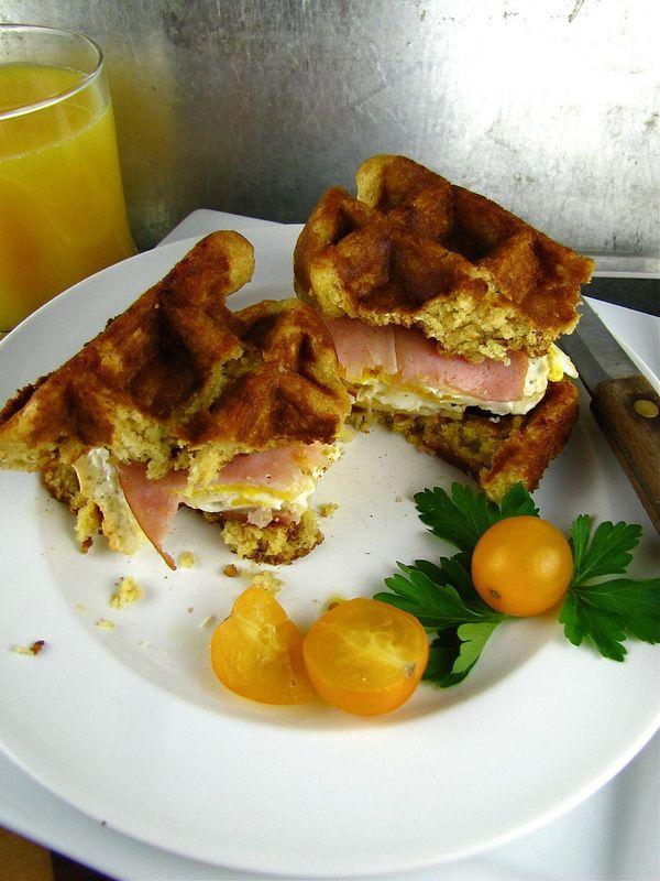 Waffle Breakfast Sandwiches | Miss in the Kitchen
