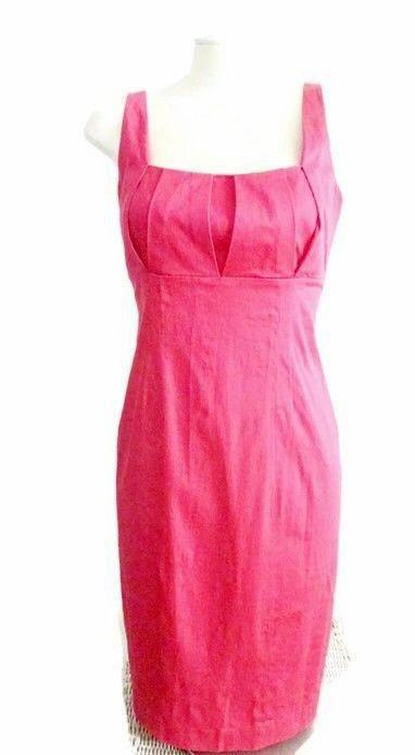 Calvin Kleins  Womens Dress Fuschia Sleeveless Fitted Sheath High Waist Sz 8 #CalvinKlein #FittedSheath #Cocktail