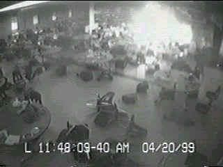 Columbine High School cafeteria surveillance tape